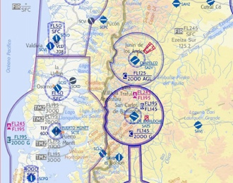 Chile Concepcion And Puerto Montt VFR Chart Flyermaps - Class g airspace map